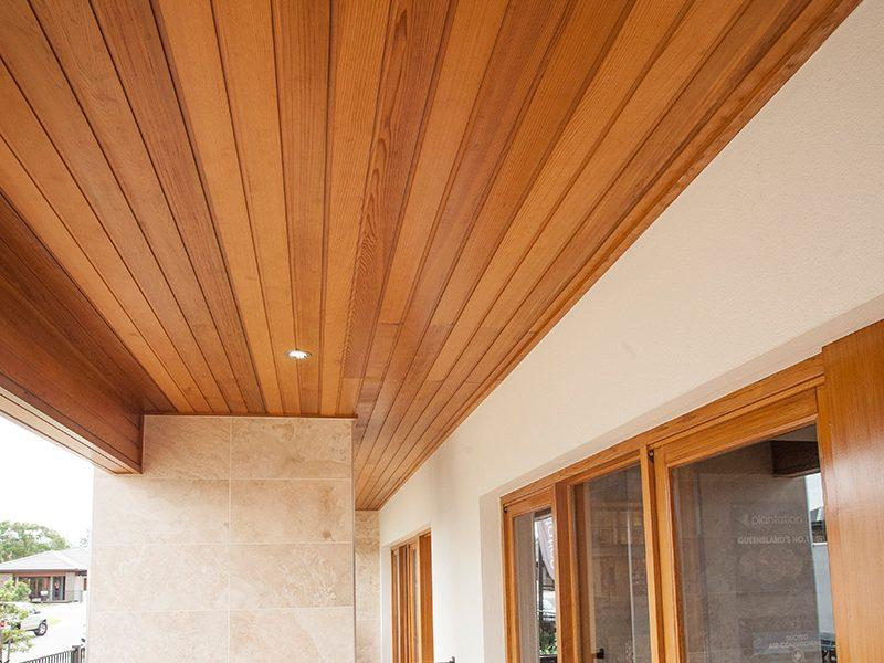 Nice wooden ceiling with led spot